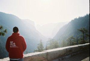 Yosemite climb a rock