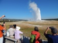 No one watches Old Faithful with their eyes